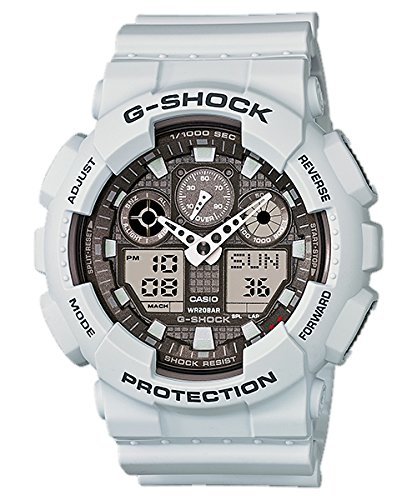 [カシオ]CASIO 腕時計 G-SHOCK 耐磁時計(JIS1種) Blizzard White ブリザードホワイト GA-100LG-8A メンズ [逆輸入モデル]