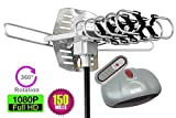 Outdoor Amplified Antenna - 150 Miles Range - 360° Rotation - Wireless Remote - Best Reviews Guide