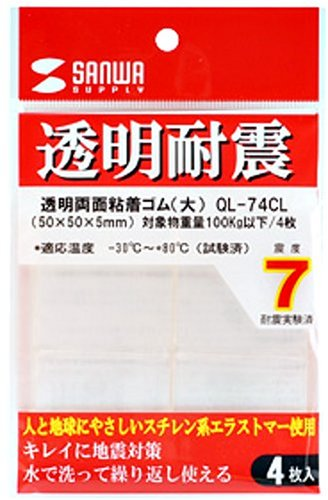 SANWA SUPPLY transparent double-sided adhesive rubber (large) QL-74CL