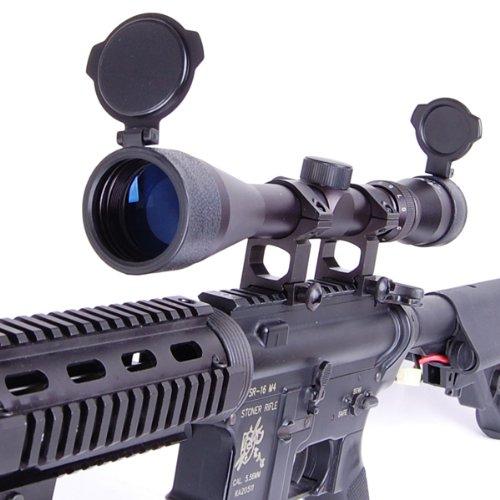ANS Optical ライフルスコープ 3-9x 40mm 可変ズーム 窒素充填 防水加工 実銃対応 ハイエンドモデル バトラーキャップ付