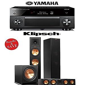 Yamaha RX-A2060BL AVENTAGE 9.2-Channel Network A/V Receiver + Klipsch RP-280F + Klipsch RP-450C + Klipsch R-112SW - 3.1 Reference Premiere Home Theater Package by Klipsch
