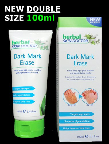Dark Mark Erase - Herbal Skin Doctor - 100ml X-Large Tube - The Anti Ageing Cream - Highly Effective - Reduce/Remove Age Spots, Freckles and Pigmentation Marks in Weeks!