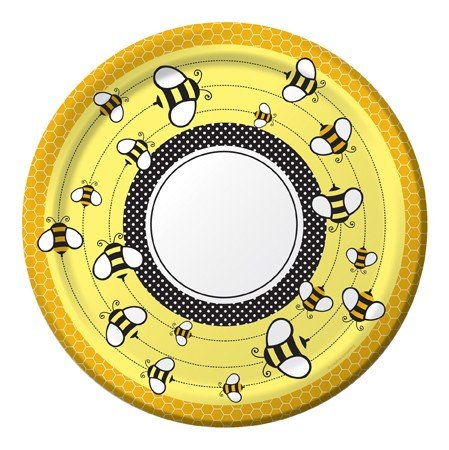 """Bee Party Supplies: 10"""" Paper Banquet Plates (8 Ct) front-564987"""