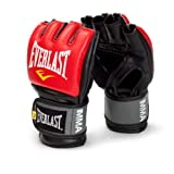 Everlast Pro Style MMA Grappling Gloves, Large/Xtra Large, (Red)