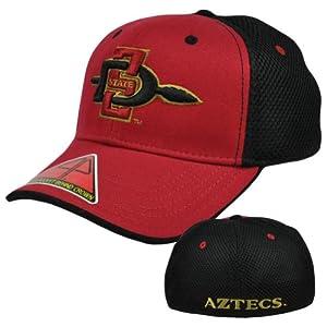 Buy NCAA Butter Pro Pocket San Diego State Aztecs S M Curved Bill Flex Fit Hat Cap by Pro Pocket Headgear