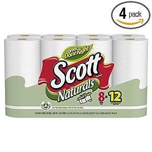 Scott Naturals Choose-A-Size Mega Roll, 8 102-Sheet Rolls (Pack of 4)