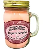 Tropical Paradise Scented 13 oz Mason Jar Candle - Made in the USA by Our Own Candle Company