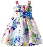 Youngland Little Girls' Water Color Floral Tulip Woven Dress