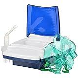 Comfo-Care Piston Compressor Nebulizer System- White & Blue