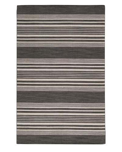 Surya Calvin Flat Weave Hand Woven Rug, Black Olive, 8'x11'