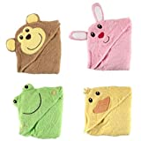 Luvable Friends Animal Face Hooded Towel