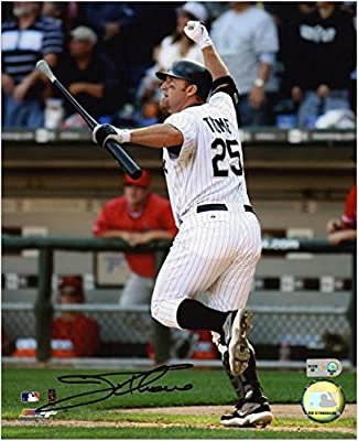 """Jim Thome Chicago White Sox 500th HR Autographed 8"""" x 10"""" Vertical Photograph - Fanatics Authentic Certified"""