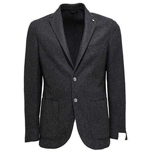 9016L giacca uomo grigia L.B.M. 1911 slim fit cotone lana seta jackets men [54 R]