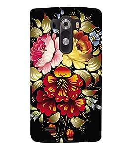 printtech Flower Back Case Cover for LG G3::LG G3 D855