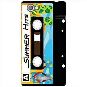 Sony Xperia M Back Cover - Audio Cassette Designer Cases