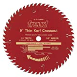 Freud LU88R009 9-Inch 54 Tooth ATB Thin Kerf Crosscutting and Ripping Saw Blade with 5/8-Inch Arbor and PermaShield Coating