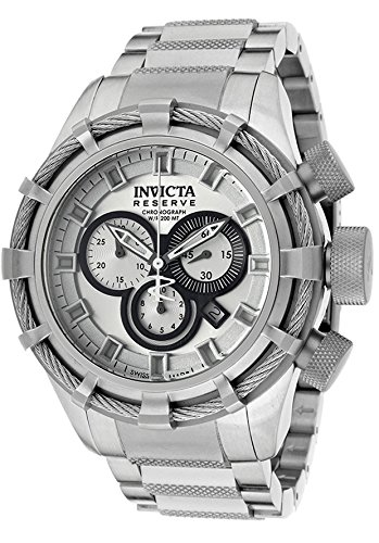 Invicta Men's 1446 Bolt Chronograph Silver-Tone Dial Stainless Steel Watch