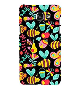 Fuson Premium Back Case Cover Bees Pattern With Blue Background Degined For Samsung Galaxy A5(2016)::Samsung Galaxy A5 A510F
