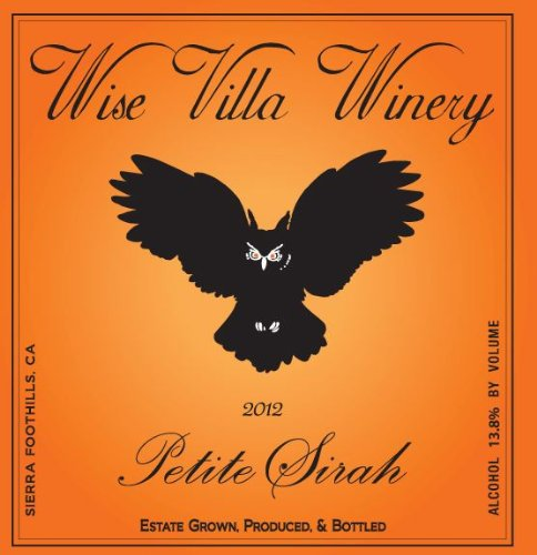 2012 Wise Villa Winery Sierra Foothills Petite Sirah 750 Ml