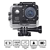 2.0-Inch WIFI Underwater 12MP Sports Action Camera Diving 30M Waterproof Camera, HD 1080P Motorcycle Helmet Cam Bicycle Action Camcorders for Riding, Racing, Skiing, Motocross And Water Sports