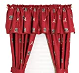 Alabama Printed Curtain Valance - 84 x 15 - Alabama Crimson Tide at Amazon.com