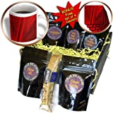 cgb_16802_1 Florene Abstract Plants - Fan In Red - Coffee Gift Baskets - Coffee Gift Basket