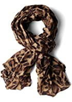 Celebrity Women Hot EXTRA Large Animal Leopard Print Shawl scarf in Brown (Brown)