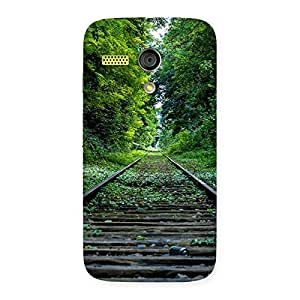 Delighted Beautiful Track Green Back Case Cover for Moto G