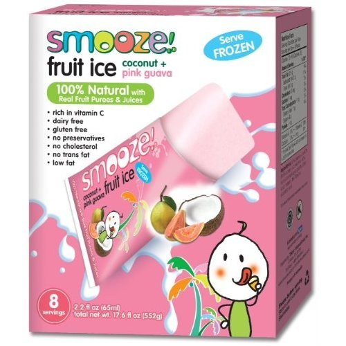Smooze Fruit Ice Coconut with Guava 17.6 oz. (Pack of 12)