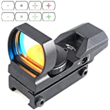 CVLIFE 1x22x33 21mm Air Rifle Multi Reticle 4 Red & Green Dot Sight Scope Dovetail Mounts