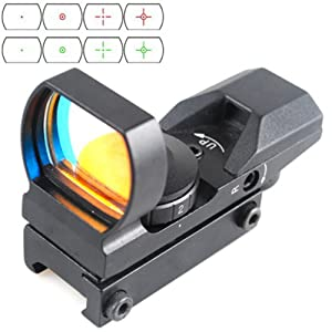 Cvlife 1x22x33 21mm Air Rifle Multi Reticle 4 Red Dot Sight Scope Dovetail Mounts