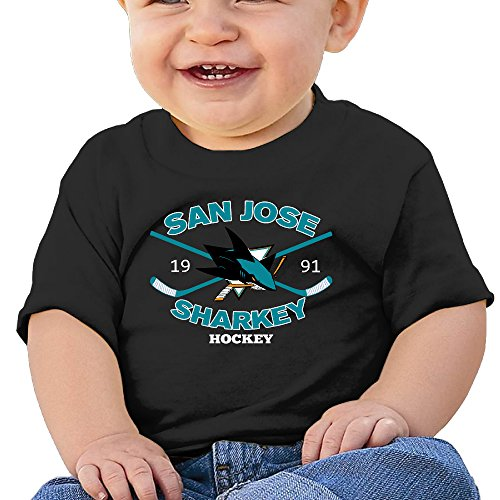 DVPHQ Baby's San Jose Logo Sharks Shirt Little Boy's & Girl's Black Size 18 Months (6-24 Months) (San Jose Costume)