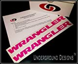 WRANGLER JK JKU Jeep Fender Decals 2007-2014 Sticker Kit SEXY HOT PINK by Underground Designs