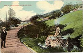 1914 Vintage Postcard - View at Lakeview Park - Cleveland Ohio