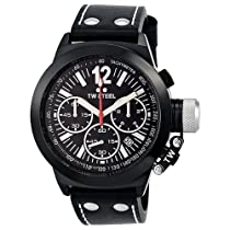 TW Steel CEO Canteen Chronograph Black Dial Black PVD Mens Watch CE1033R