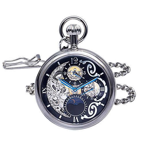 Regent Hills Regent Hills Brass Case Mechanical Open Face Pocket Watch with Hand Winding 9441CP-RVBK