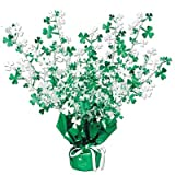 Shamrock Gleam N Burst Centerpiece Party Accessory (1 count) (1 Pkg)