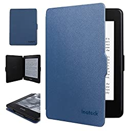 Inateck Kindle Paperwhite Folio Case for Amazon All-New Kindle Paperwhite 2015 300 PPI 3rd gen/ 2014/ 2013/ 2012, with Magnetic Auto Sleep Wake Function, Blue