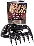Kassa Meat Claws (Set of 2) - Free Bonus Recipe Booklet- Meat Shredder for BBQ Smoker- Meat Handler Carving Forks- Pulled Pork Claws