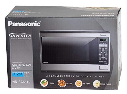 Panasonic Stainless Steel Microwave Oven, 1.2 Cubic Feet, 1200 Watts, Inverter Technology, Model Nn-Sa651S