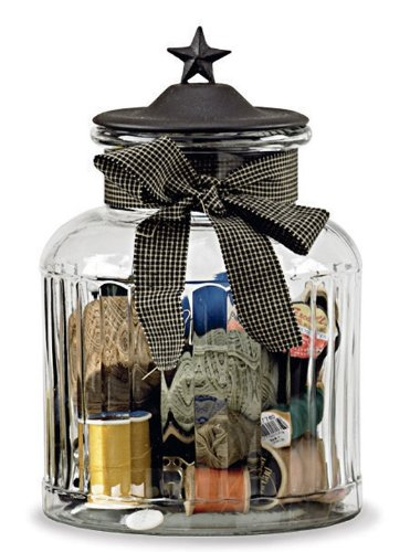 Black Star Large Glass Jar (Primitive Cookie Jar compare prices)