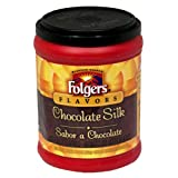 Folgers Flavors Chocolate Silk Ground Coffee, 11.5-Ounces Tubs (Pack of 6)