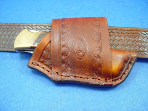 Custom Leather Cross Draw Knife Sheath That Can Be Worn On Your Left Or Right For A Buck 110 Or Buck 112. Knife Not For Sale!