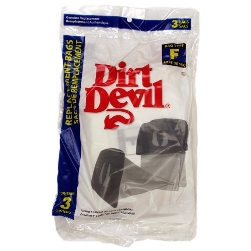 Dirt Devil Type F Vacuum Cleaner Bags / 3 Pack - Genuine Oem 3200147001 front-607379