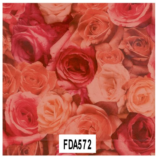 """Decopatch Decoupage Paper Mache """"Dusty Red Roses"""" 572 F"""