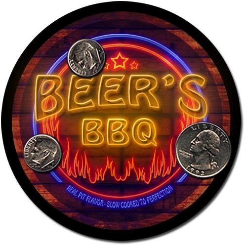 Beer'S Barbeque Drink Coasters - 4 Pack