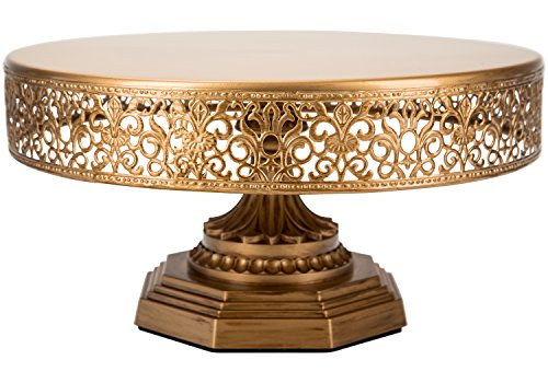 'Victoria Collection' Round Metal Cake Stand, 12