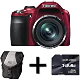 Fujifilm FinePix SL240 Red + Case and 16GB Memory Card (14MP, 24x Optical Zoom) 3 inch LCD Screenby DiscountedDigital