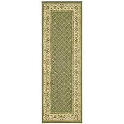 Safavieh Courtyard Collection CY0901-1E06 Olive and Natural Indoor/ Outdoor Runner, 2 feet 3 inches by 10 feet (2\'3\