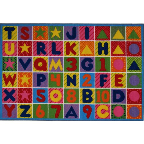 Numbers Letters & Shapes Area Rug 39